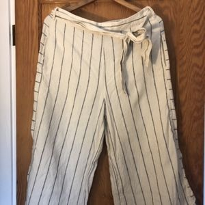 Anthropologie Cropped Linen Pants M